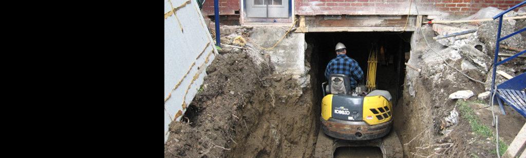 Excavation de sous-sol