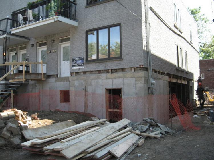 Excavation de sous sol construction k2 inc for Assurer une maison vide